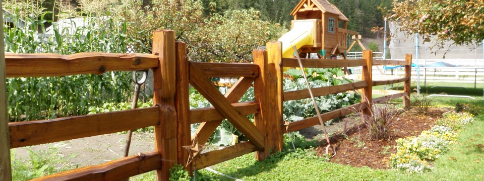 Custom Backyard Wood Rails